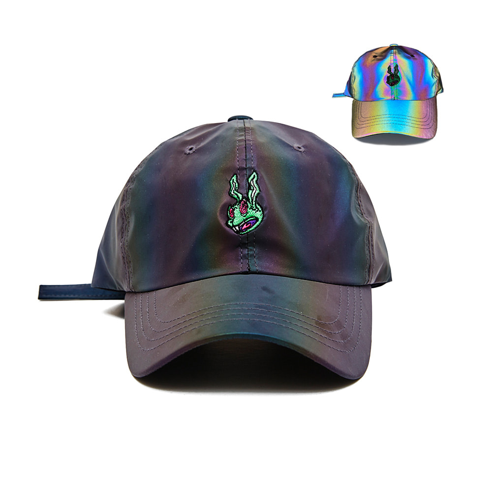 BSRABBIT TRIPPY RABBIT CAP RAINBOW REFLECTIVE