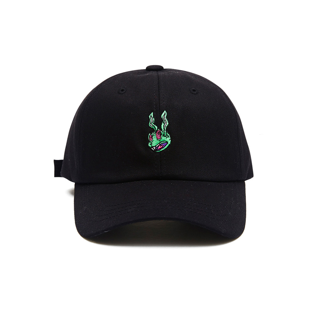 BSRABBIT TRIPPY RABIT CAP BLACK